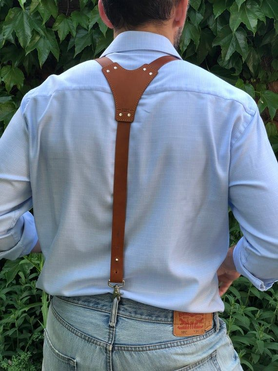 Custom mens suspenders, mens tan leather braces, buy mens suspenders, brown suspenders, groomsmen suspenders, mens harness, leather braces