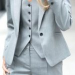 Details about 2018 New Women Ladies Business Office Formal Tuxedos Blue 3 Piece Suits Bespoke