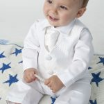 Details about Baby Boys 4 Piece Christening Outfit / Christening Suit White Check