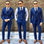 Details about Custom Made Blue Men Wedding Suits Groom Best Man Tuxedos Formal Business Suit