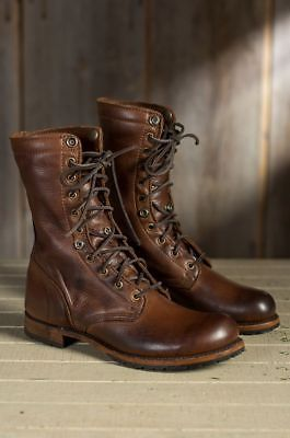 Details about Handmade Mens brown Military boots, Men brown high ankle combat boots, Men boots