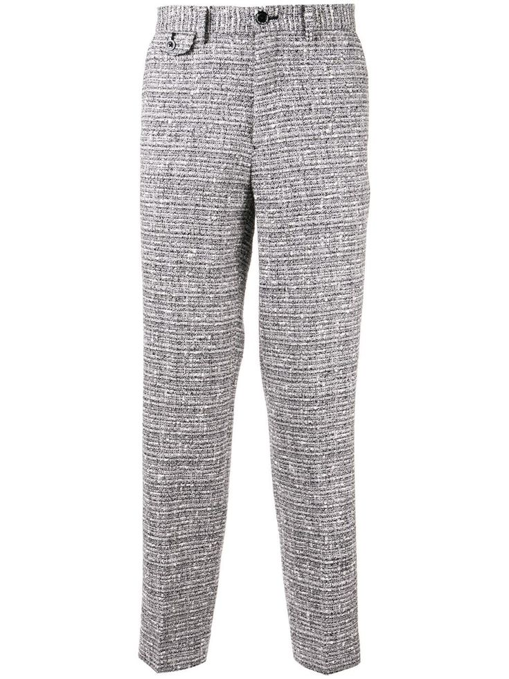 Education From Young Machines bouclé tweed trousers – Grey