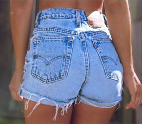 Fashion Distressed Ripped High Waist Denim Shorts from clothing