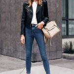 Fashion Jackson Capsule Wardrobe Wearing Club Monaco Black Leather Jacket White ...