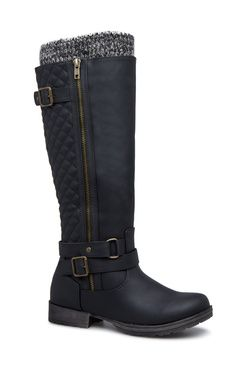 Finley quilted flat boot