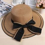Foldable Straw Hat With Accent Bow