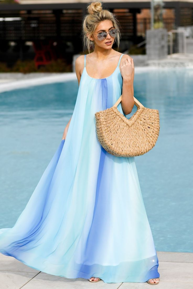 Forever Better Blue Ombre Maxi Dress