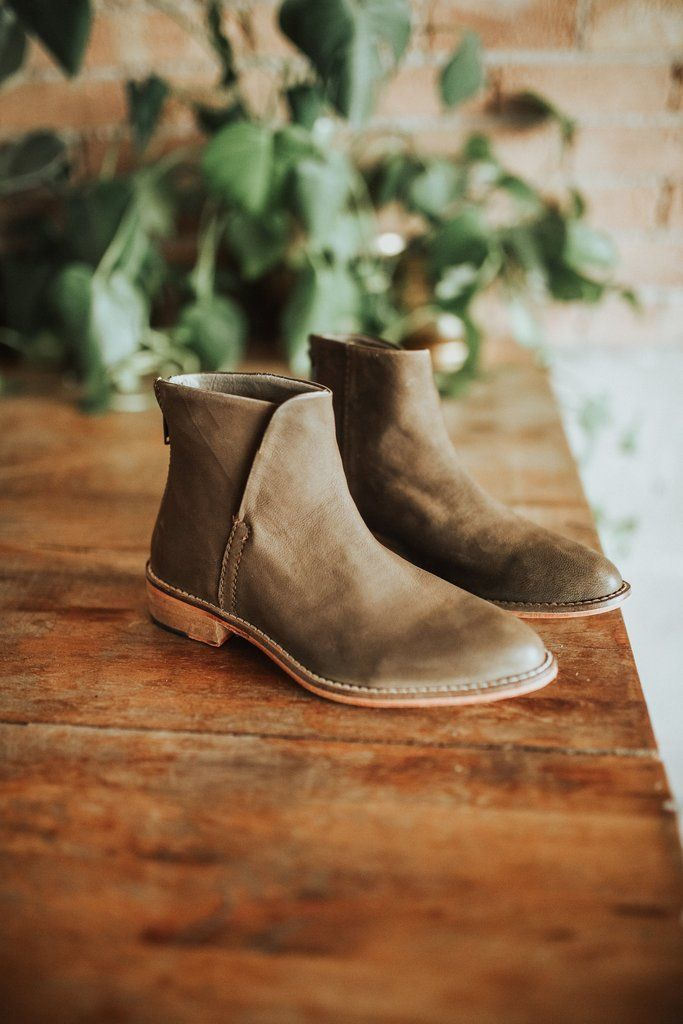 Free People Century Flat Boot in Taupe