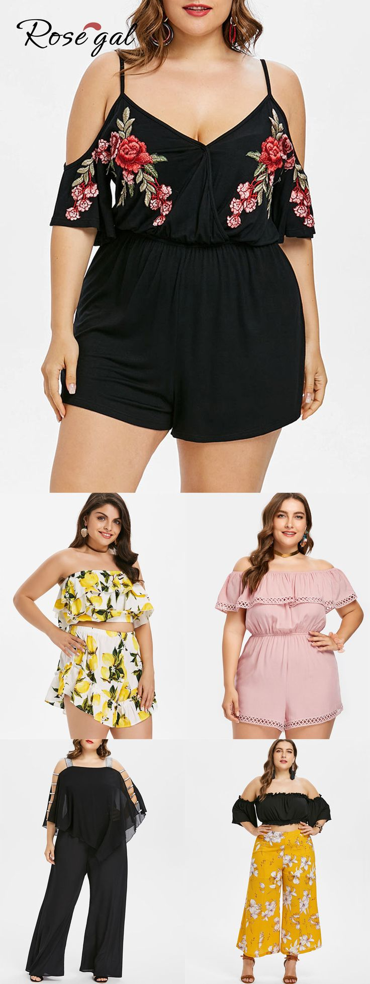 Free shipment worldwide, up to 70% off, ROSEGAL plus size rompers and jumpsuits …