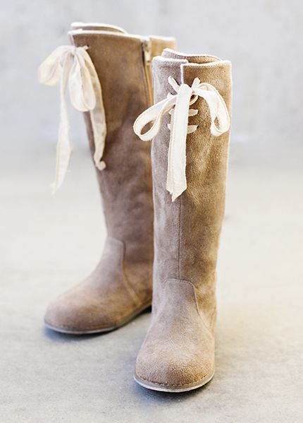 From Joyfolie's Fall 2014 line- the Hadley Boot in tan. Available at shabbyaddy….