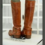 Frye Brown Leather Boots Lightly Worn Genuine Leather Boots Small mark under one...