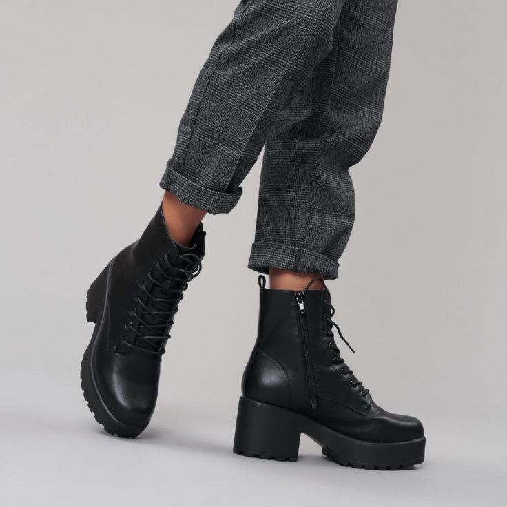 GIN Platform Military Boots view 3