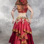 GYPSY DANCER Underbust Vest with Hood by Off The Nile, Belly Dance Top