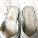 Gabor Comfort Slide Mule Sandal Comfort shoe to help with foot pain. Slip on sty...