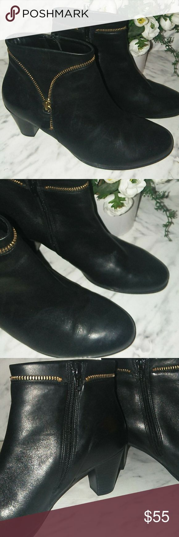 Gabor Leather Booties Fits like a 7 in women but they say size 5. Worn only once…