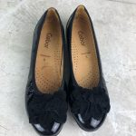 Gabor sacchetto patent leather bow toe flats, sz 7 Gabor sacchetto patent leathe...