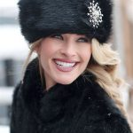 Get warmth from russian fur hat