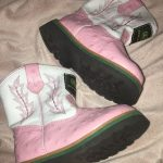Girls John Deere Boots Cute pink and white authentic John Deere boots. Worn once...
