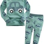 Green Cars Long Sleeve Pajamas