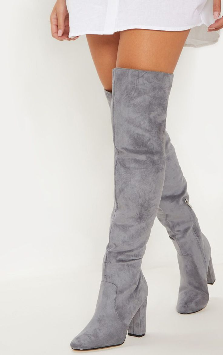 Grey Over The Knee Behati Boot