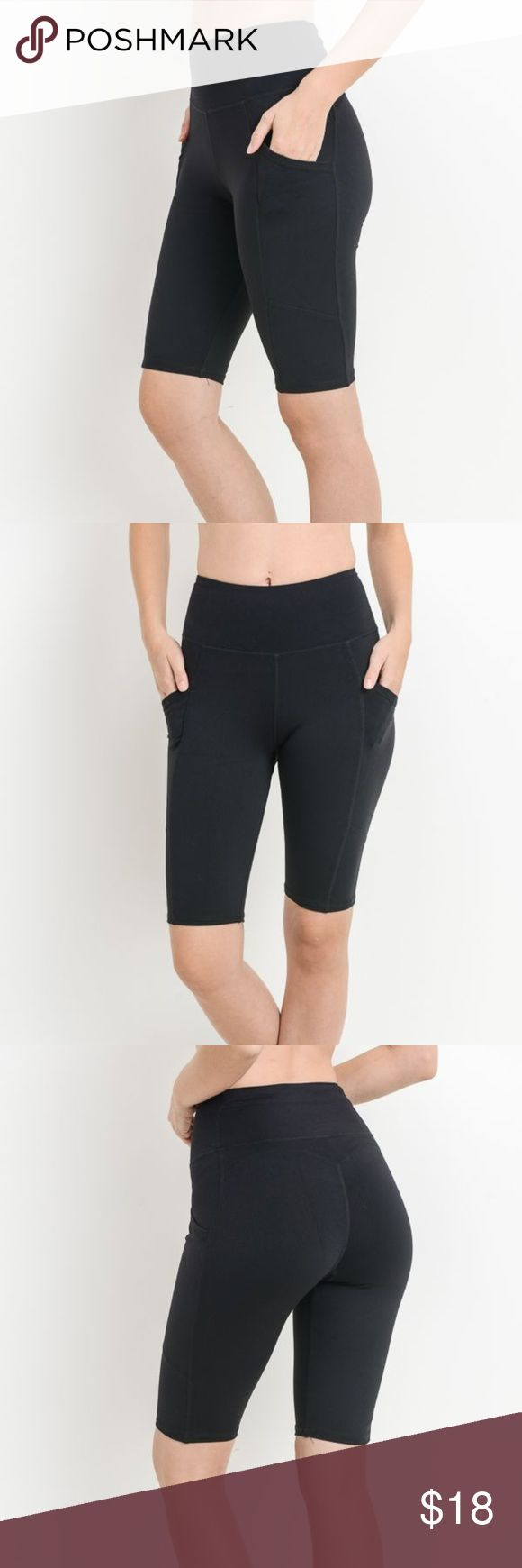 High Waist Short Leggings Featuring Side Pockets Get fit in our high waisted sho…