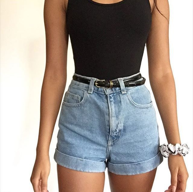 High Waisted Shorts Outfits For Summer