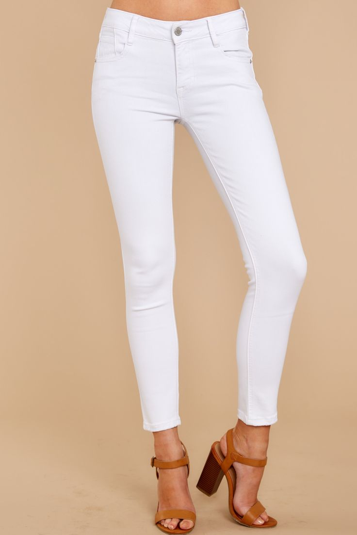 Hold It Down White Skinny Jeans