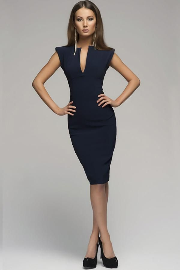 Hollywood Ending Pure Color Pencil Dress