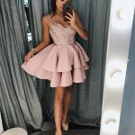 Hot Sale Appealing Prom Dress A-Line, Homecoming Dress With Appliques, Homecoming Dress Short