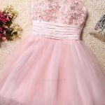 Hot Sale Beautiful Party Dresses Short, Open Back Party Dresses, High Neck Party Dresses, Pink Party Dresses