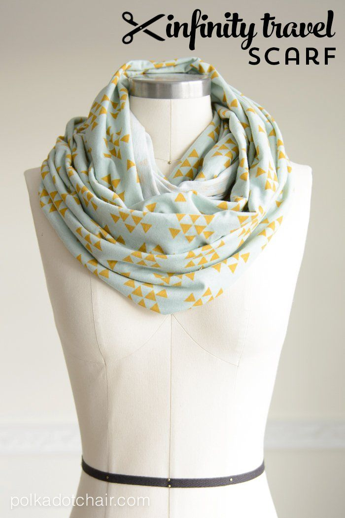 How to Make an Infinity Scarf; a Travel Scarf Tutorial – Polka Dot Chair