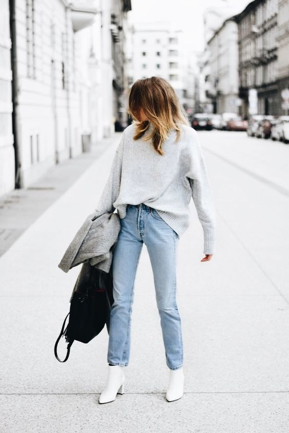 How to Wear White Booties