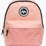 Hype pink mesh pocket backpack