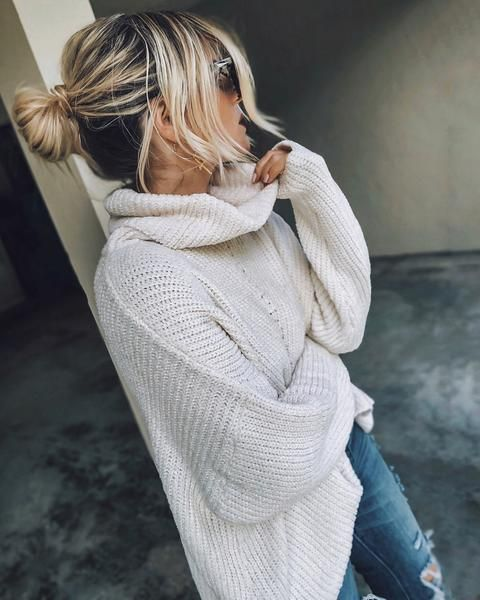 Ivory Tower Cowl Neck Sweater