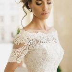 Ivory Wedding Jackets Lace Off-the-shoulder Short Sleeve Bridal Bolero Wraps New