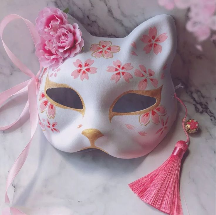 Japanese Fox Hand-painted Cosplay Mask