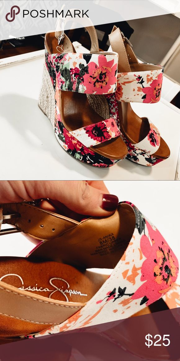 Jessica Simpson Shoes | Jessica Simpson Spring Wedges | Color: Pink | Size: 8