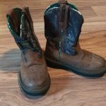 John Deere Boots Toddler Size 9 Camouflage boots, they have been worn but they h...