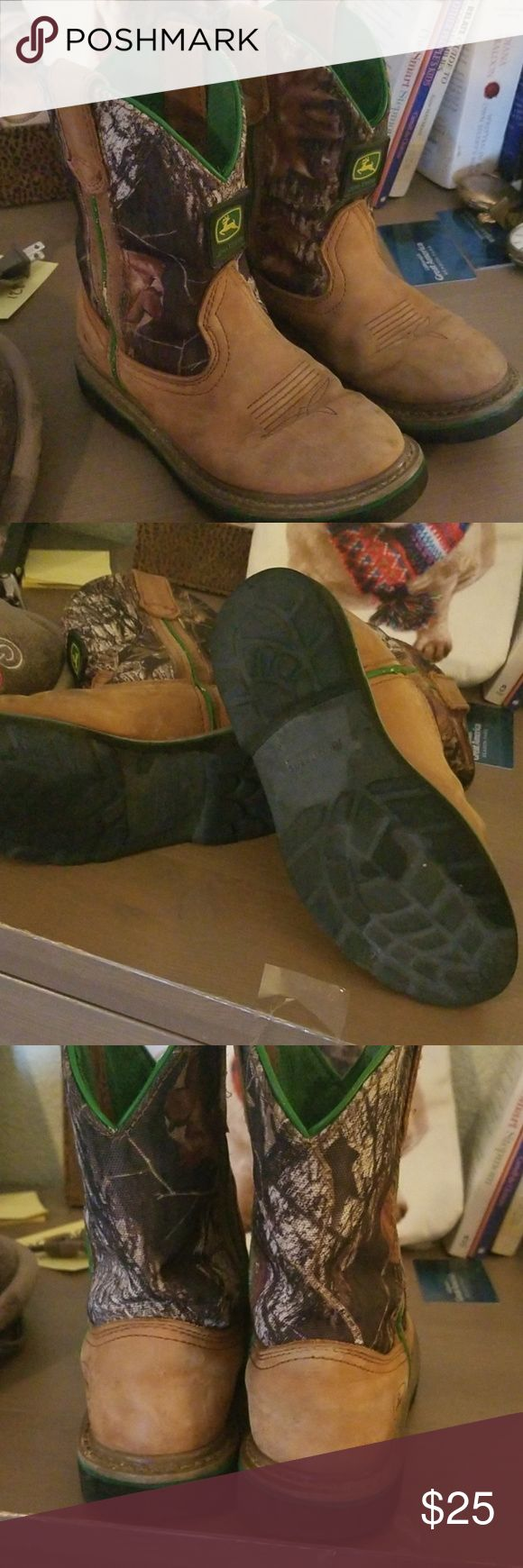 John Deere boots Great condition Worn Awesome boots John Deere Shoes Boots