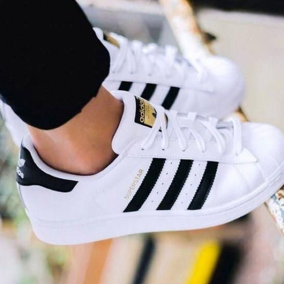 "Keevin ""ADIDAS"" Superstar Casual Shoes Gold Standard White Black"
