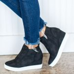 Known By All Wedge Sneakers, Black