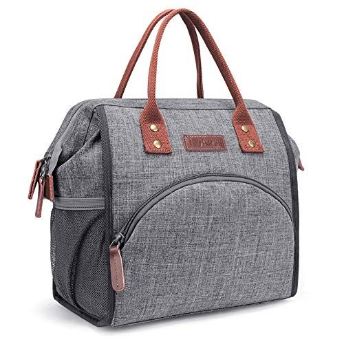 LOKASS Lunch Bag Insulated Cooler Bag Wide-Open Lunch Tote Box Leak Proof