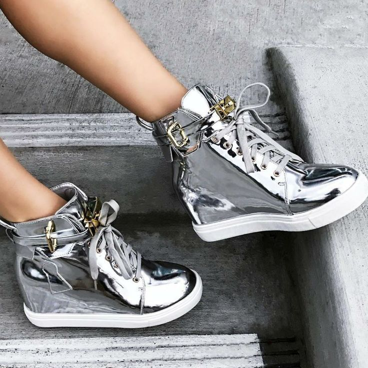Lace Up Sneaker Wedges