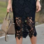 Lace skirt, ivory skirt , black skirt, white skirt