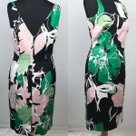 Ladies Coast dress size 10 pink green black wedding guest bold floral  #fashion ...