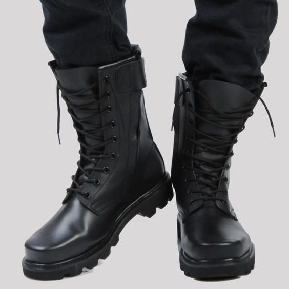 Leather Combat And Steel Head Tooling Boots – Men's Boots – Ideas of Men's Boots…