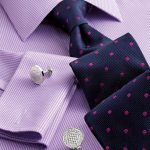 Lilac twill puppytooth non-iron Classic fit shirt | Men's formal shirts from...