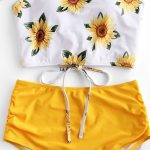 Love Sunflower Tankini Set swimsuit bikinis