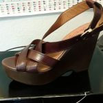 MISS SIXTY Platform Shoes Brown leather platform sandals, barely used, in excell...