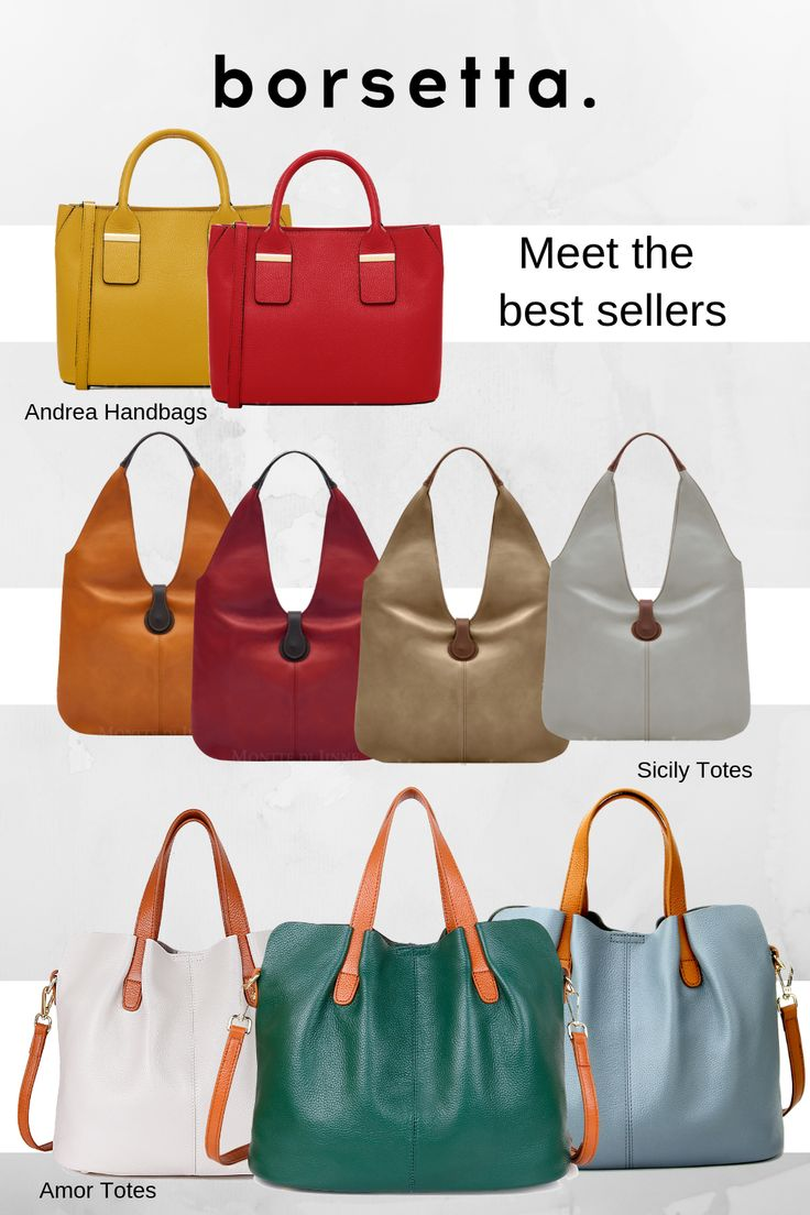 Meet our best selling leather bags